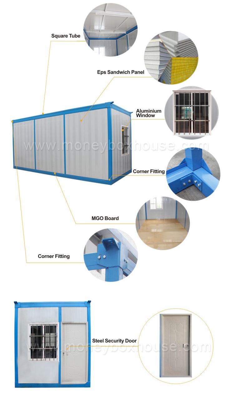 Günstige moderne container wohnenluxus vorgefertigte häuser